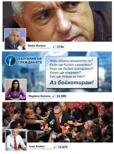 Най-популярните български политици във Фейсбук през 2012 г.